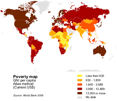 Poverty Vs Global Warming Innovation In Business Energy And - Global poverty map